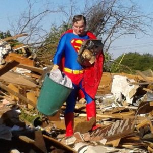 Superman helps out in Adairsville (from 11Alive News)