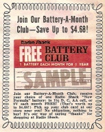 A free battery every month