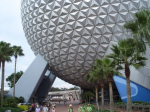 The familiar Geodesic Dome at Disney's Epcot